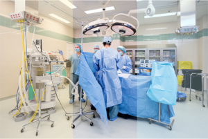 Color correcting filters optimize lighting in the surgical suite