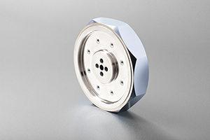 Metal coated spinner optic for LiDAR